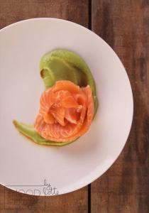 Zalm met avocado